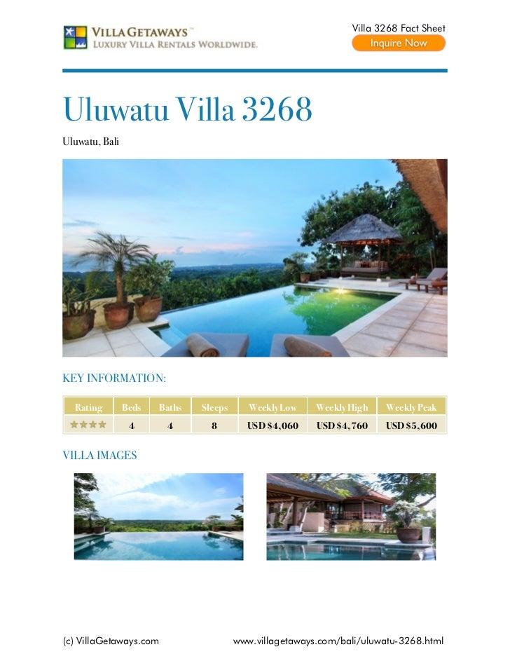 Uluwatu villa 3268,bali