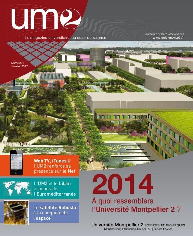 UM2 Magazine n°1 Janvier 2012