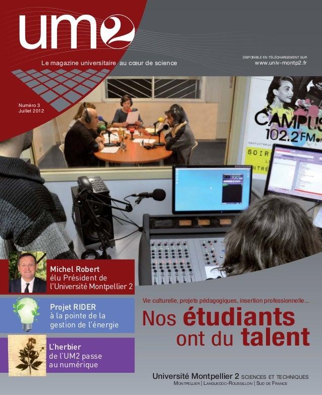 UM2 Magazine n°3 Juillet 2012