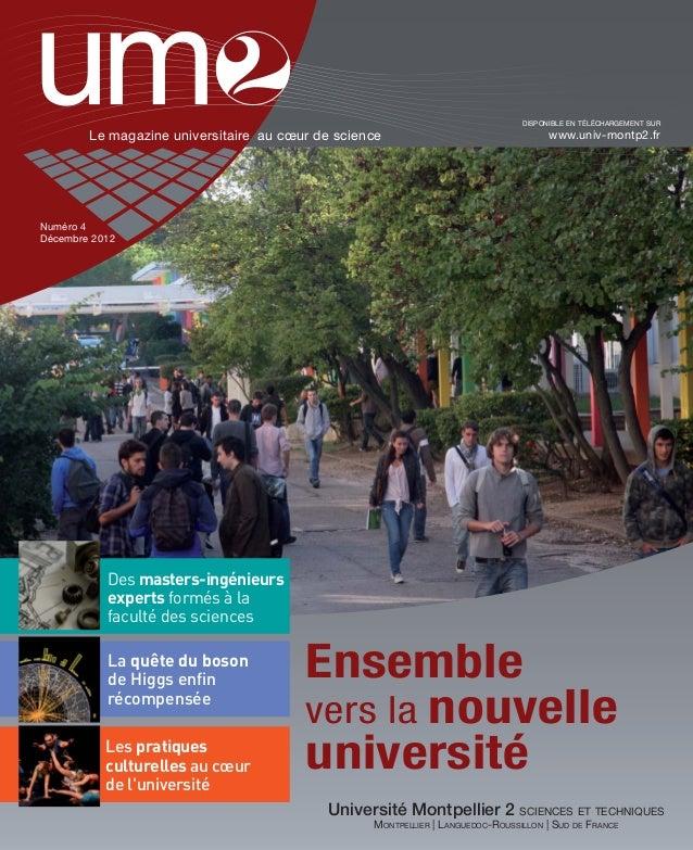 UM2 Magazine n°4 Décembre 2012