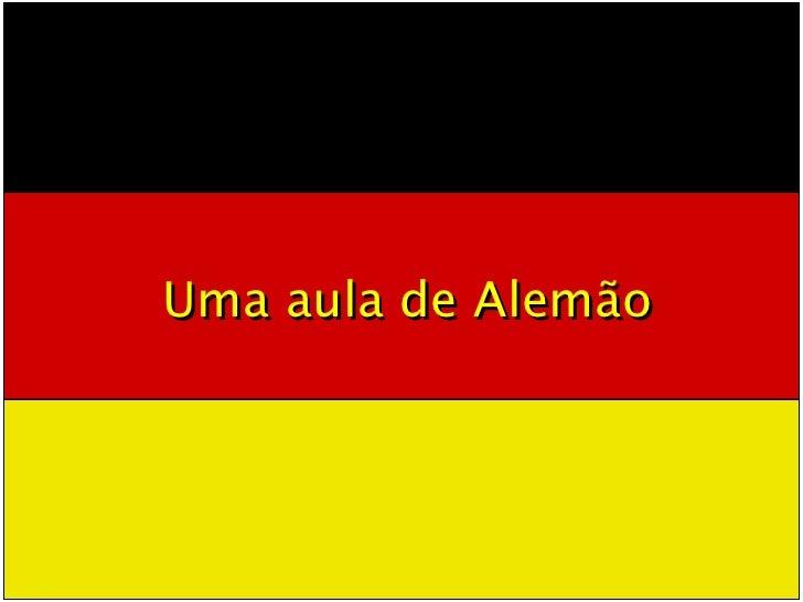 Uma aula de Alemão