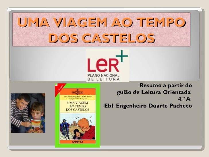 Resumo a partir do guião de Leitura Orientada  4.º A  Eb1 Engenheiro Duarte Pacheco UMA VIAGEM AO TEMPO DOS CASTELOS