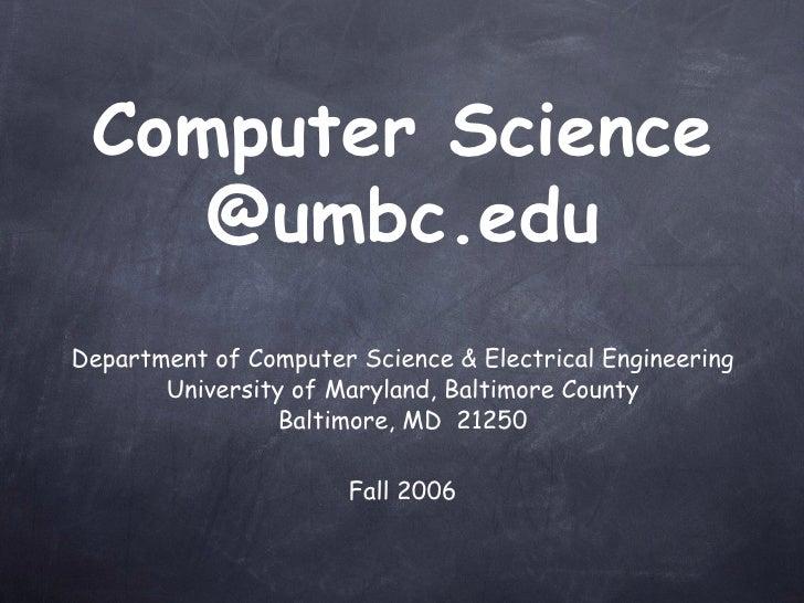 UMBC undergraduate computer science program