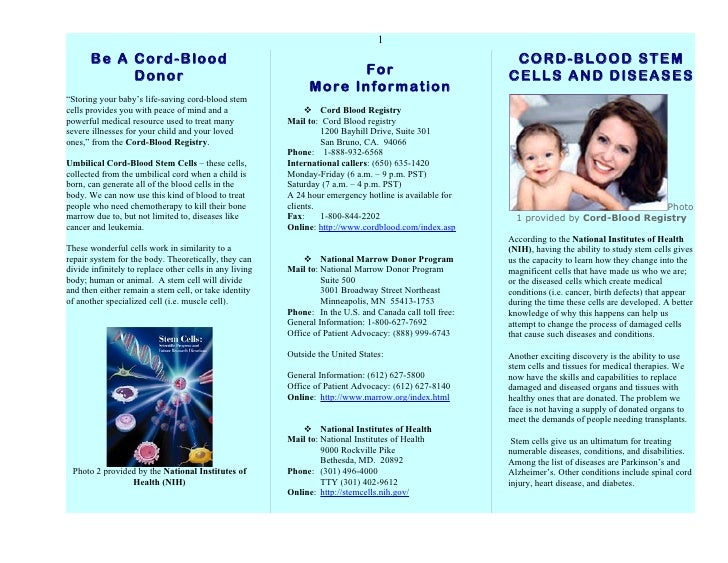1       Be A Cord-Blood                                                                                    CORD-BLOOD STEM...