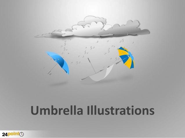 Umbrella Illustration Editable PowerPoint