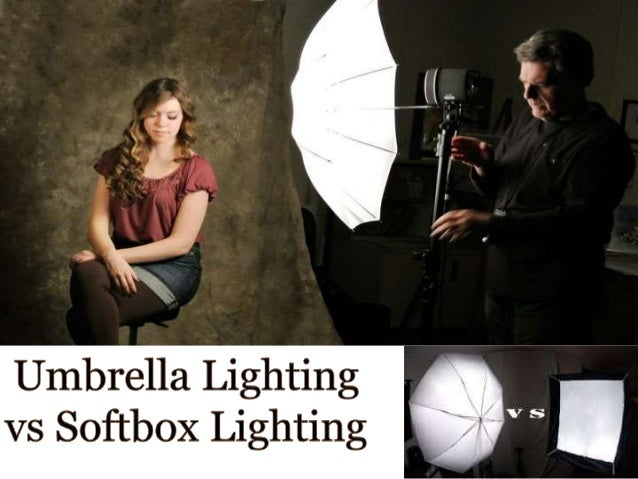 Umbrella lighting vs softbox lighting