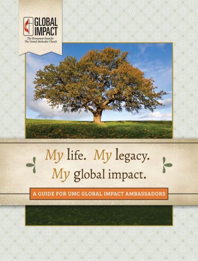 My life. My legacy. My global impact.   | 1