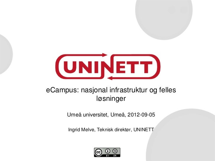 eCampus, norsk satsing på IKT-bruk