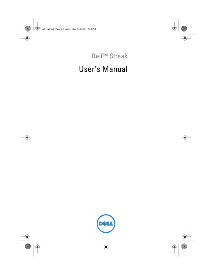 Dell™ Streak          Users ManualCOMMENT