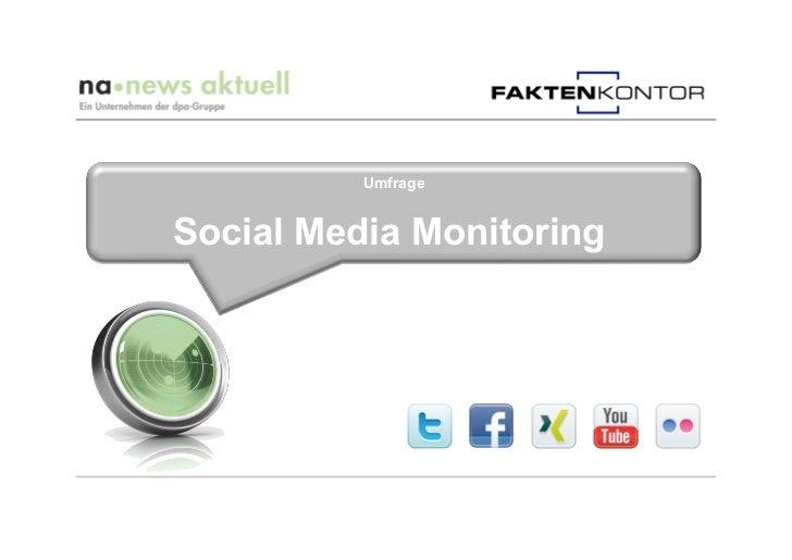 UmfrageSocial Media Monitoring
