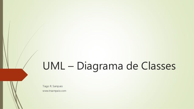 UML – Diagrama de Classes  Tiago R. Sampaio  www.trsampaio.com
