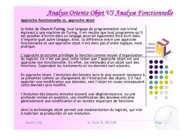 Analyse Oriente ObjetAnalyse Oriente ObjetAnalyse Oriente ObjetAnalyse Oriente Objet VSVSVSVS Analyse FonctionnelleAnalyse...