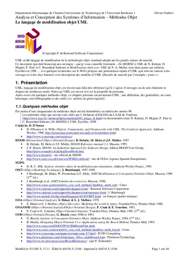 Département Informatique de l'Institut Universitaire de Technologie de l'Université Bordeaux 1                Olivier Guib...