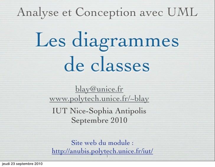 Analyse et Conception avec UML                    Les diagrammes                      de classes                          ...