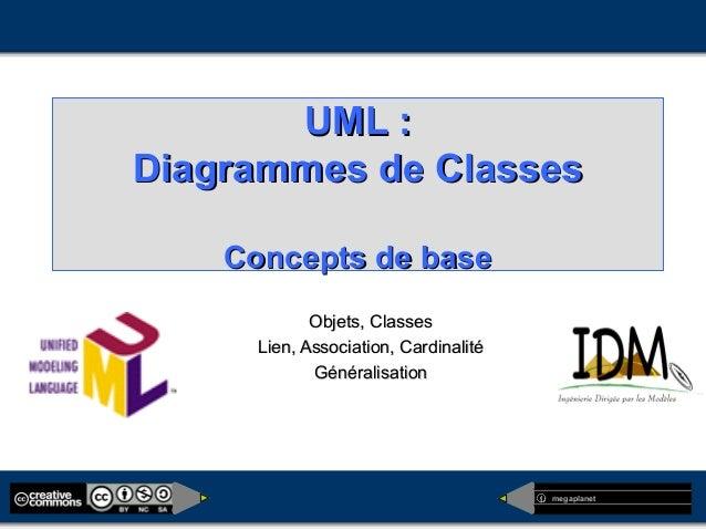 megaplanet UML :UML : Diagrammes de ClassesDiagrammes de Classes Concepts de baseConcepts de base Objets, ClassesObjets, C...