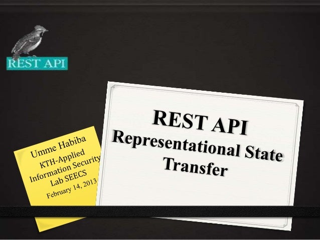 REST API Representational State Transfer