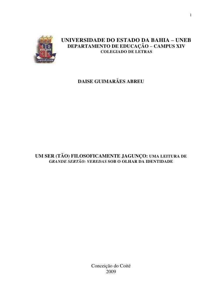 1        UNIVERSIDADE DO ESTADO DA BAHIA – UNEB           DEPARTAMENTO DE EDUCAÇÃO – CAMPUS XIV                        COL...