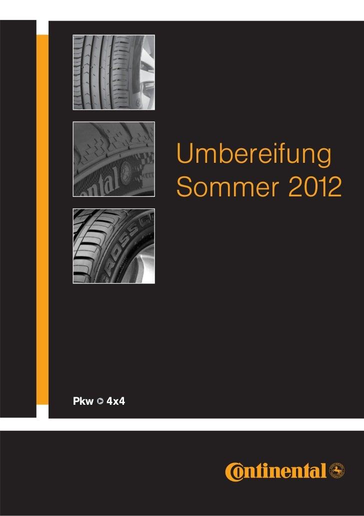 Umbereifung            Sommer 2012Pkw q 4x4