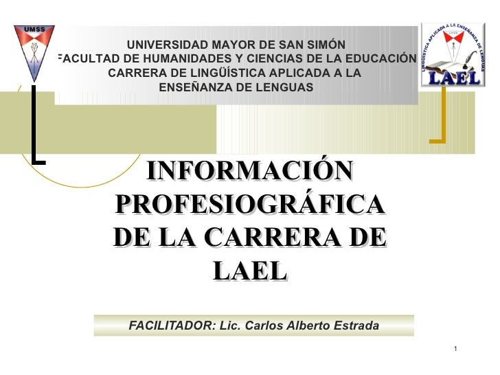 Información Carrera de Lingüística Aplicada - UMSS