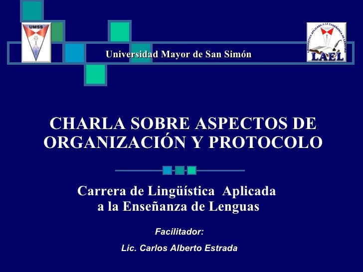 Nociones sobre organización y protocolo