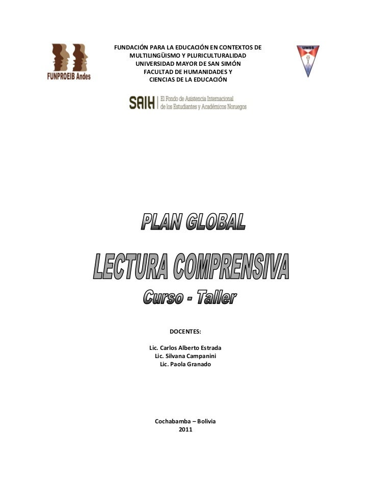 Plan Global. Curso de Lectura Comprensiva. Resumen. 2011