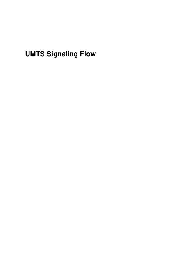 Umts signal flow