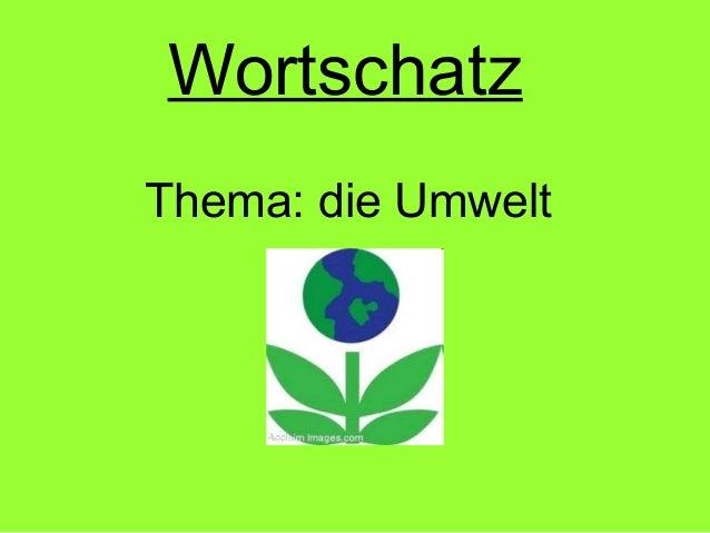 Wortschatz Thema: die Umwelt