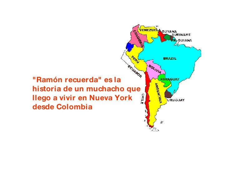 """""""Ramón recuerda"""" es la historia de un muchacho que llego a vivir en Nueva York desde Colombia"""