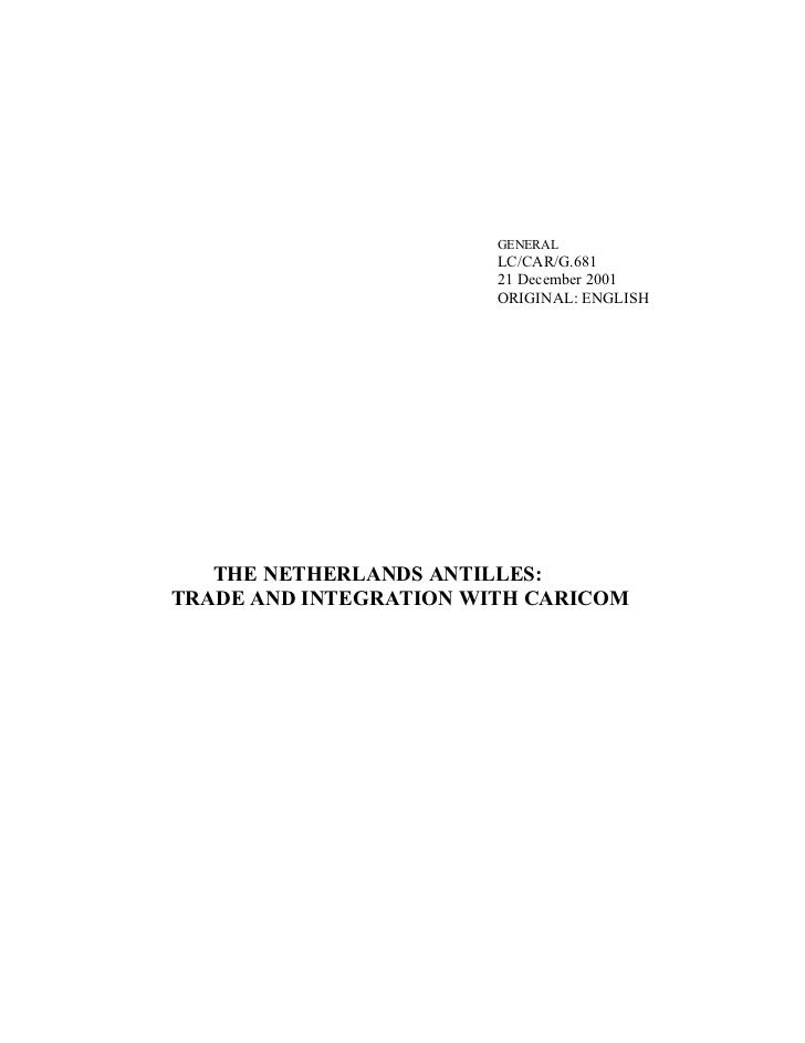 UN-ECLAC - The Netherland Antilles Trade and Integration with CARICOM – Dec 2001