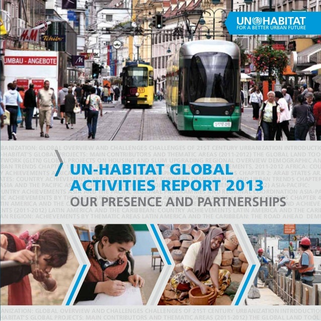 UN-Habitat Global activities report 2013