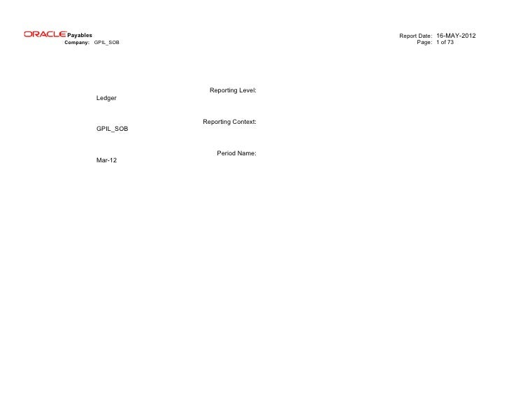 Payables                                   Report Date: 16-MAY-2012Company: GPIL_SOB                                Page: ...