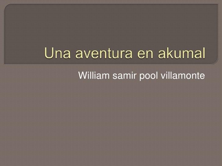 William samir pool villamonte<br />Una aventura en akumal<br />