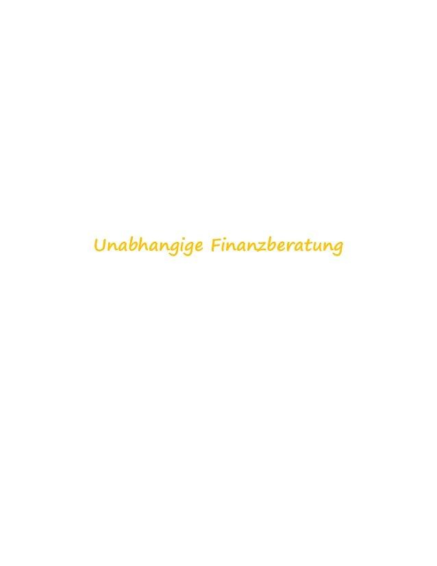 Unabhangige Finanzberatung