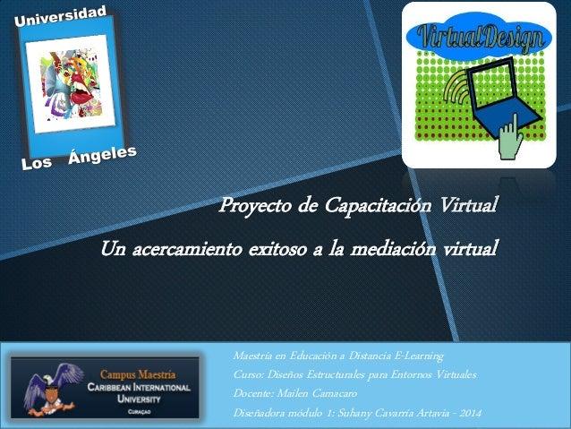 Proyecto de Capacitación Virtual Un acercamiento exitoso a la mediación virtual Maestría en Educación a Distancia E-Learni...