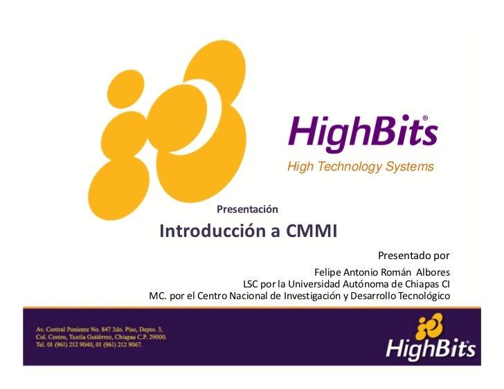 Unach hb 010312-introduccion-cmmi v1.0