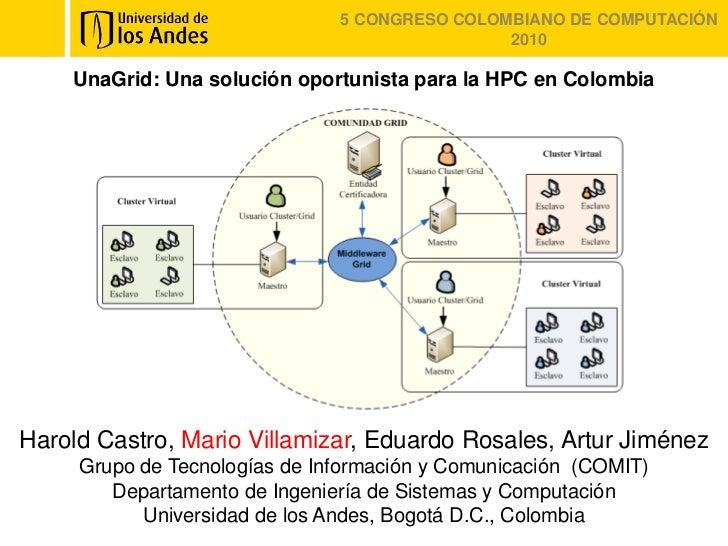 5 CONGRESO COLOMBIANO DE COMPUTACIÓN                                               2010    UnaGrid: Una solución oportunis...