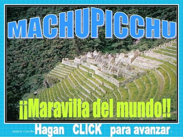 Una historia de macchupicchu