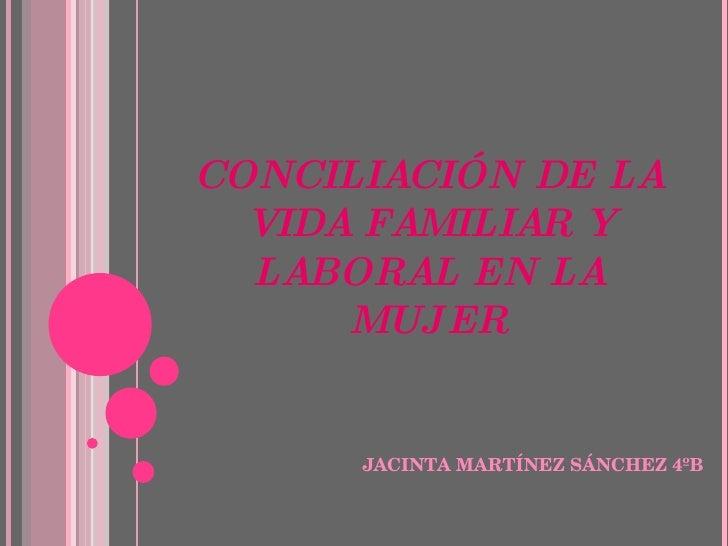 Una Igualdad Merecida; Jacinta Martínez Sánchez 4ºB
