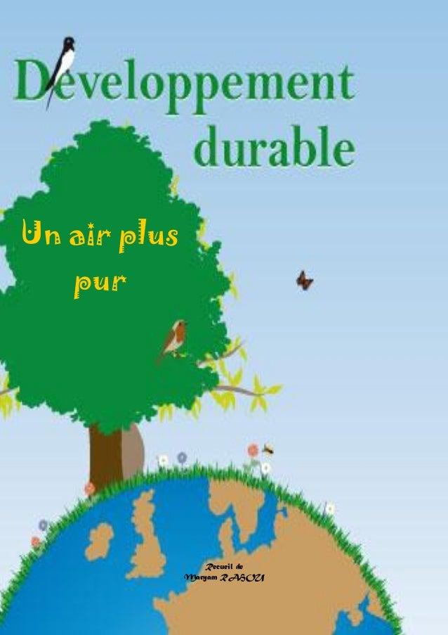 Doctissimo.fr Avril 2012 Page 1 sur 48 Un air plus pur Recueil de Maryam RAHOU
