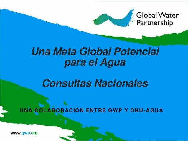 Una meta global para el agua post 2015