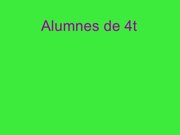 Alumnes de 4t