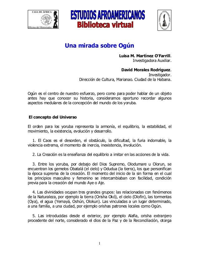 Una mirada sobre_ogun