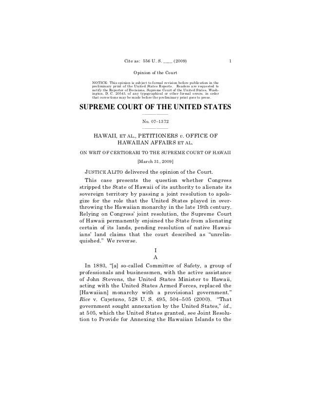 Cite as: 556 U. S. ____ (2009)                              1                             Opinion of the Court     NOTICE:...