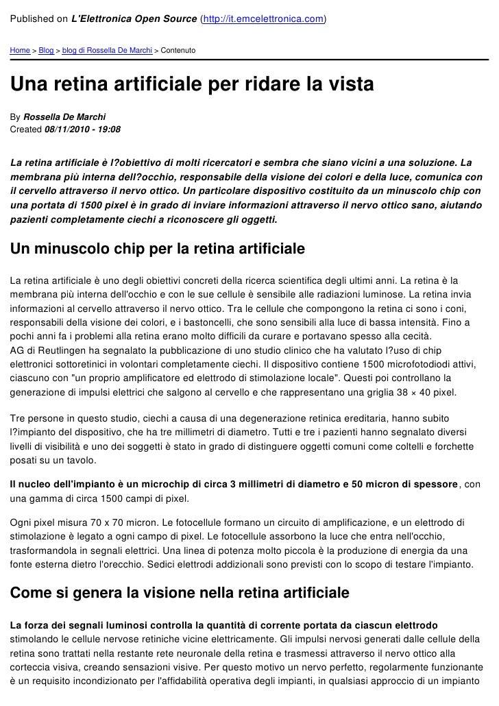 Published on LElettronica Open Source (http://it.emcelettronica.com)Home > Blog > blog di Rossella De Marchi > ContenutoUn...