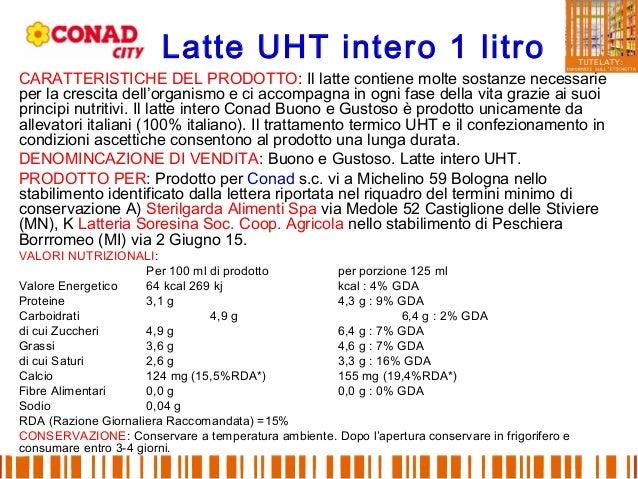 Latte UHT intero 1 litro CARATTERISTICHE DEL PRODOTTO: Il latte contiene molte sostanze necessarie per la crescita dell'or...