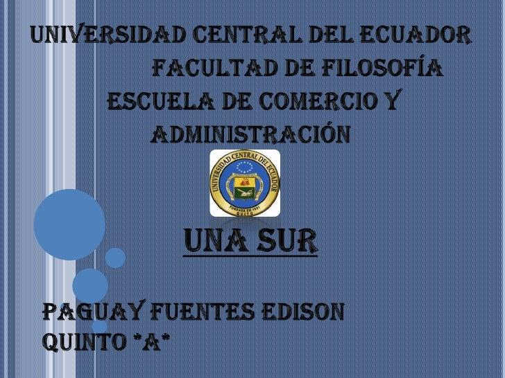 UNASUR por Edison Paguay