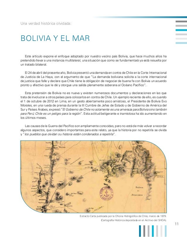 Una verdad histórica olvidada:  Bolivia y el Mar Este artículo expone el enfoque adoptado por nuestro vecino país Bolivia,...