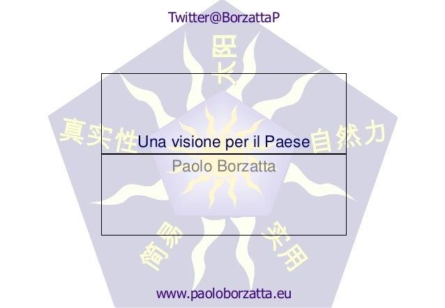 Twitter@BorzattaP         太阳Una visione per il Paese    Paolo Borzatta  www.paoloborzatta.eu