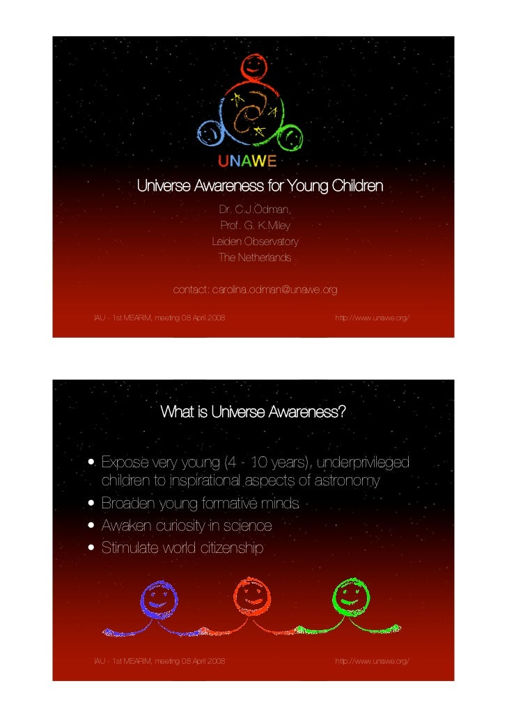 Universe Awareness - Inspiring Young Children with the Beautiful Universe