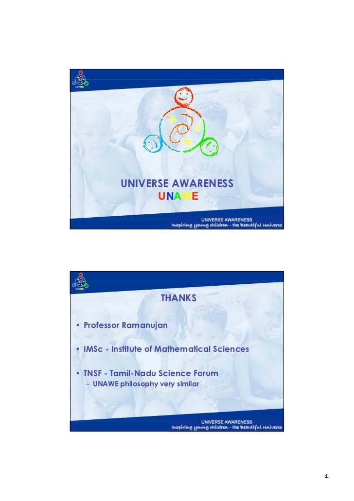Universe Awareness Presentation
